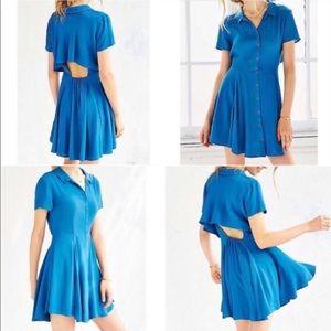 Kimchi Blue Button Down Open Back Flirty Dress